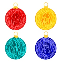 Christmas baubles balls christmas trimmings vector