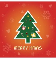 Christmas greeting card8 vector image