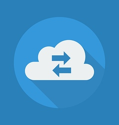 Cloud Computing Flat Icon Transfer vector