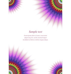 Colorful page corner design template vector image