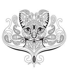 Coloring antistress cat 2 vector