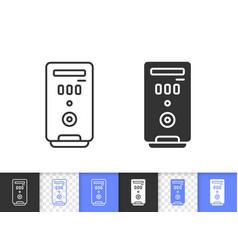 computer case simple black line icon vector image