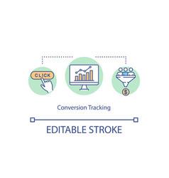 conversion tracking concept icon vector image