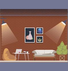 coworking space center creative studio interior vector image