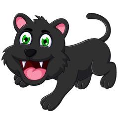 Cute black cat cartoon vector