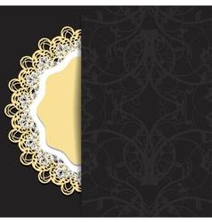 dark with openwork vector image
