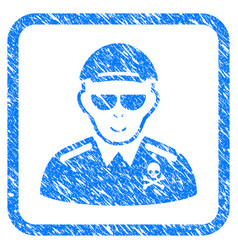 Deadly officer framed stamp vector