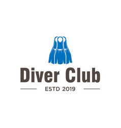 diving club logo design inspiration in blue color vector image