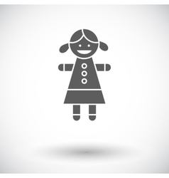 Doll toy vector