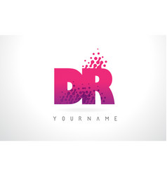 Dr d r letter logo with pink purple color and vector