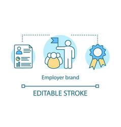 Employer branding concept icon vector