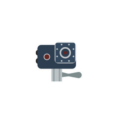 Flat icon action cam element vector