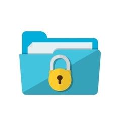 Folder lock icon vector