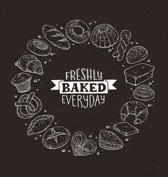 Fresh bread poster vector