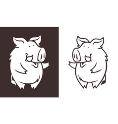 friendly boar character vector image