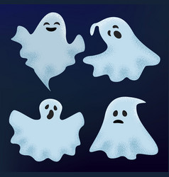 ghost halloween scary character spooky vector image