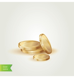 Golden coins isolated vector image