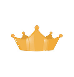golden crown isolated on a white background vector image