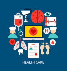 health care flat concept vector image