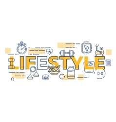 Healthy lifestyle banner concept vector image