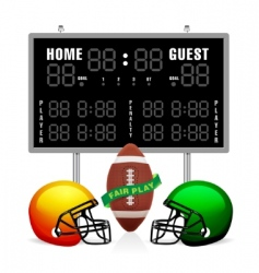 home and guest scoreboard vector image