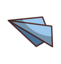 Isolated paper airplane vector