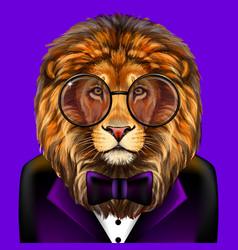 lion creative colorful hand-drawn portrait lion vector image