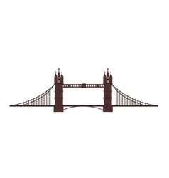 london tower bridge icon graphic vector image