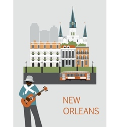 Man in New Orleans vector image