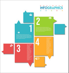 modern infographic colorful design template 9 vector image