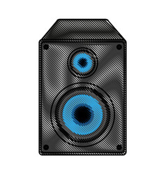 music speaker with bass vector image
