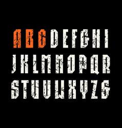 narrow sanserif font in sport style vector image