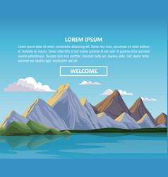 nautre landscape infographic vector image