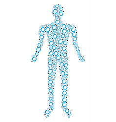 Node link person figure vector