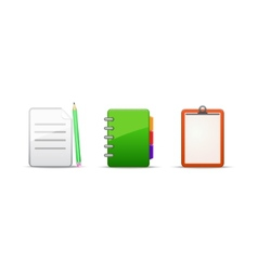 Note address book icon set vector