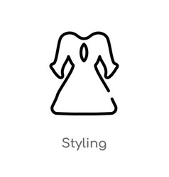 Outline styling icon isolated black simple line vector