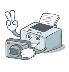 Photographer printer mascot cartoon style vector