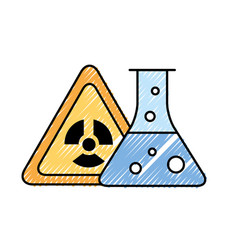 Radiation hazard test tube chemistry vector