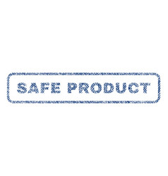 Safe product textile stamp vector