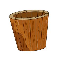 sauna bucket symbol icon design isolated on vector image