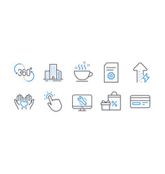 Set business icons such as file settings vector