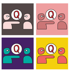 Set of logo quora website icon social media vector