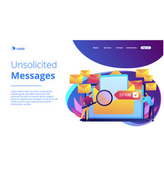 Spam concept landing page vector