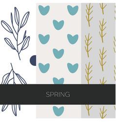 Spring patterns vector