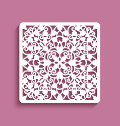 square panel with lace pattern vector image