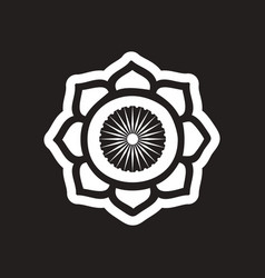 Stylish black and white icon indian symbol vector