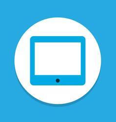 tablet icon colored symbol premium quality vector image