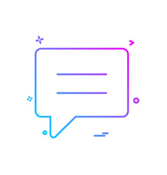 talking text sms chat icon design vector image