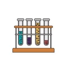 Test tube bottles vector