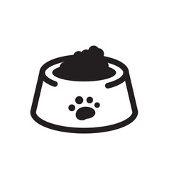 Thin line dog food icon vector